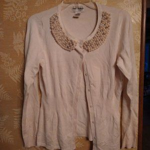 Kate & Mallory jeweled collar cardigan